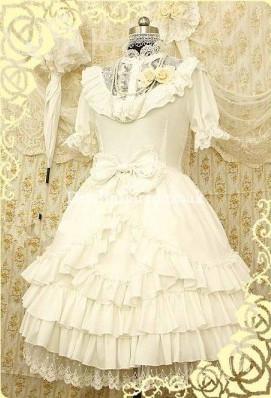 Gorgeous White Bridal Rococo Lolita Dress