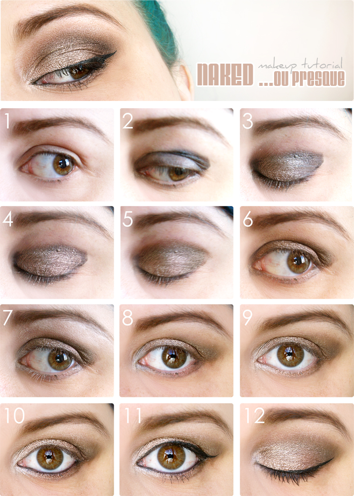 Tutoriel pour un maquillage brown