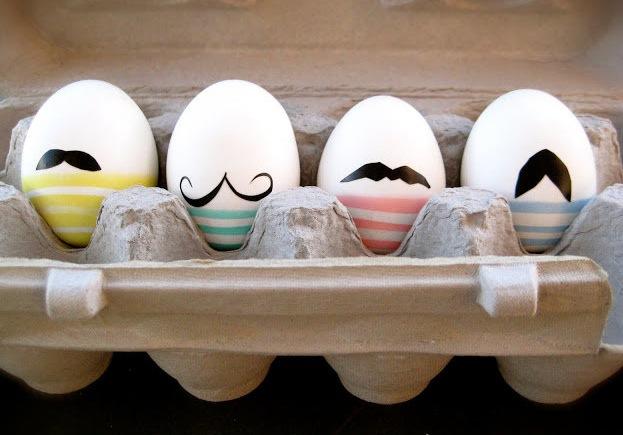 Easter egg mustache