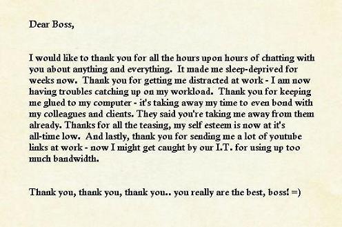 thank you notes to boss - kak2tak.tk