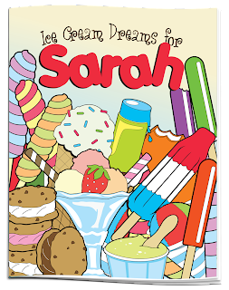 ice cream personalized coloring book with dedication - Personalized Coloring Book