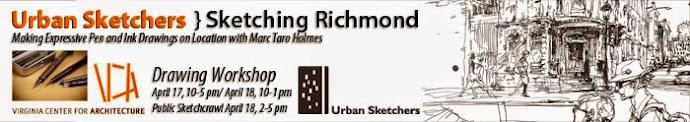 Sketching Richmond, VA with Marc Taro Holmes April 17-18, 2015