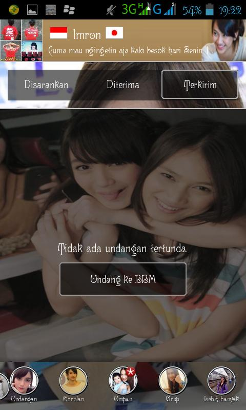 BBM Android Nabilah Shanju Melody Haruka JKT48