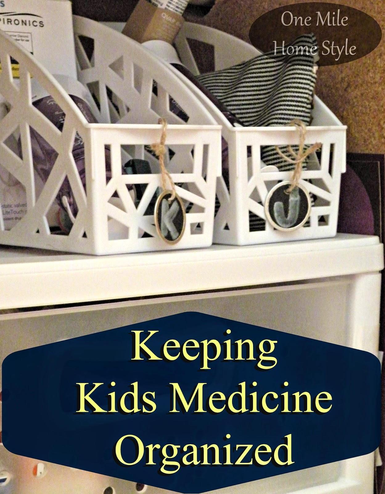 Organizing Kids Medicine - Under the Sink Storage