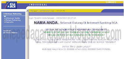 info setelah informasi rekening