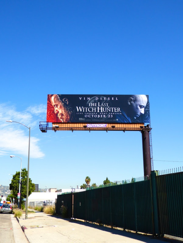 Last Witch Hunter movie billboard