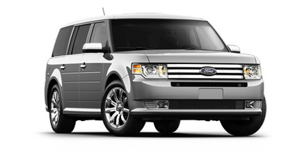 Front 3/4 view of two-tone 2011 Ford Flex