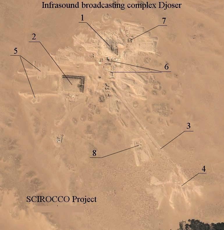 Djoser complex of infrasound energy generator