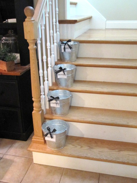 Elegant Galvanized Buckets With Handles!! Makes It Even Easier To Carry Up Their  Crap!! LOL