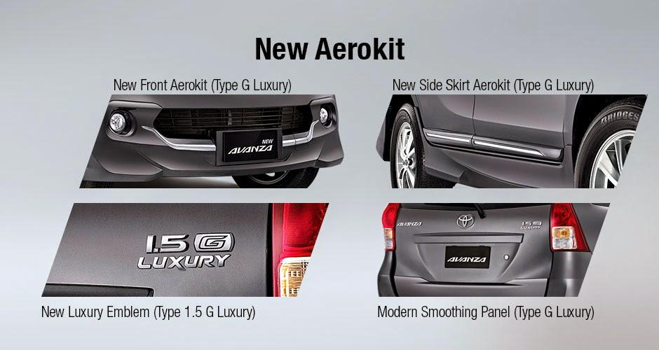 Perbedaan Avanza G 1300cc, Avanza G 1300cc Luxury, Avanza G 1500cc Luxury dan Veloz Luxury 2015