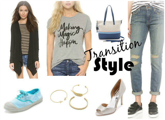 Transition Style - Casual outfit with w touch of glam to go from summer to fall