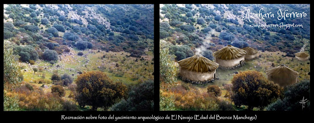 "Photo recreation on the ""El Navajo"" archaeological site from de Bronze Age (digital media)"