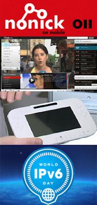 Wii U, PlayStation Vita, Nonick, EiTB a la carta e IPv6