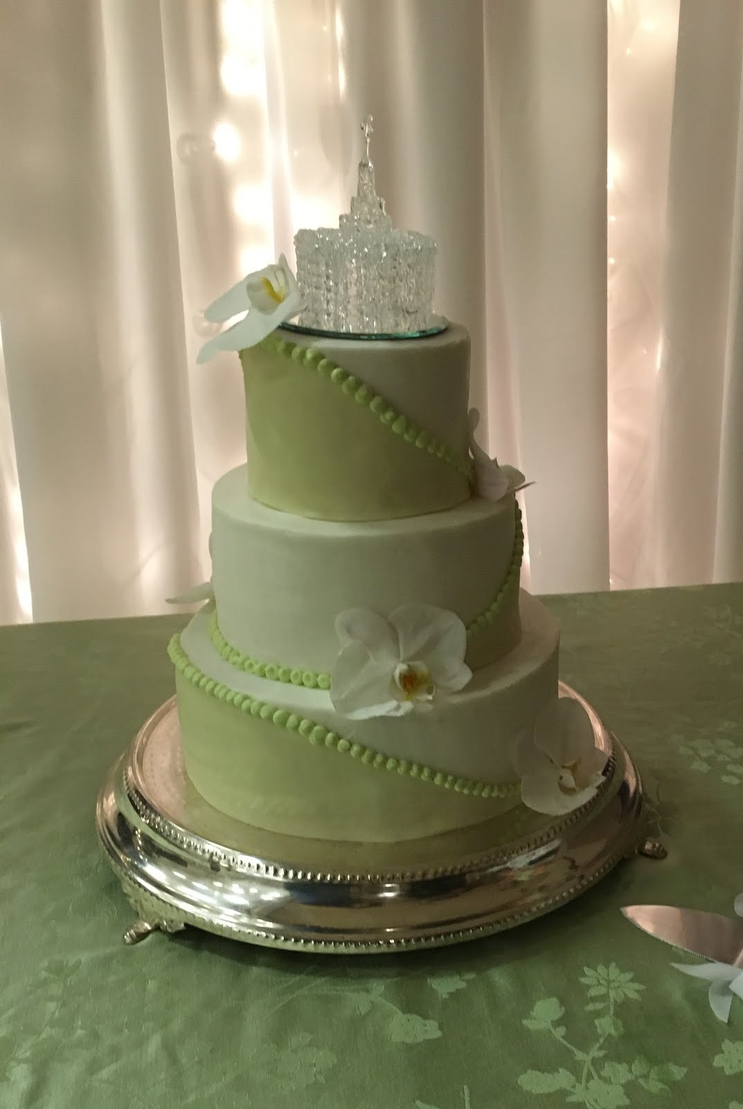 3-tier round fondant and buttercream