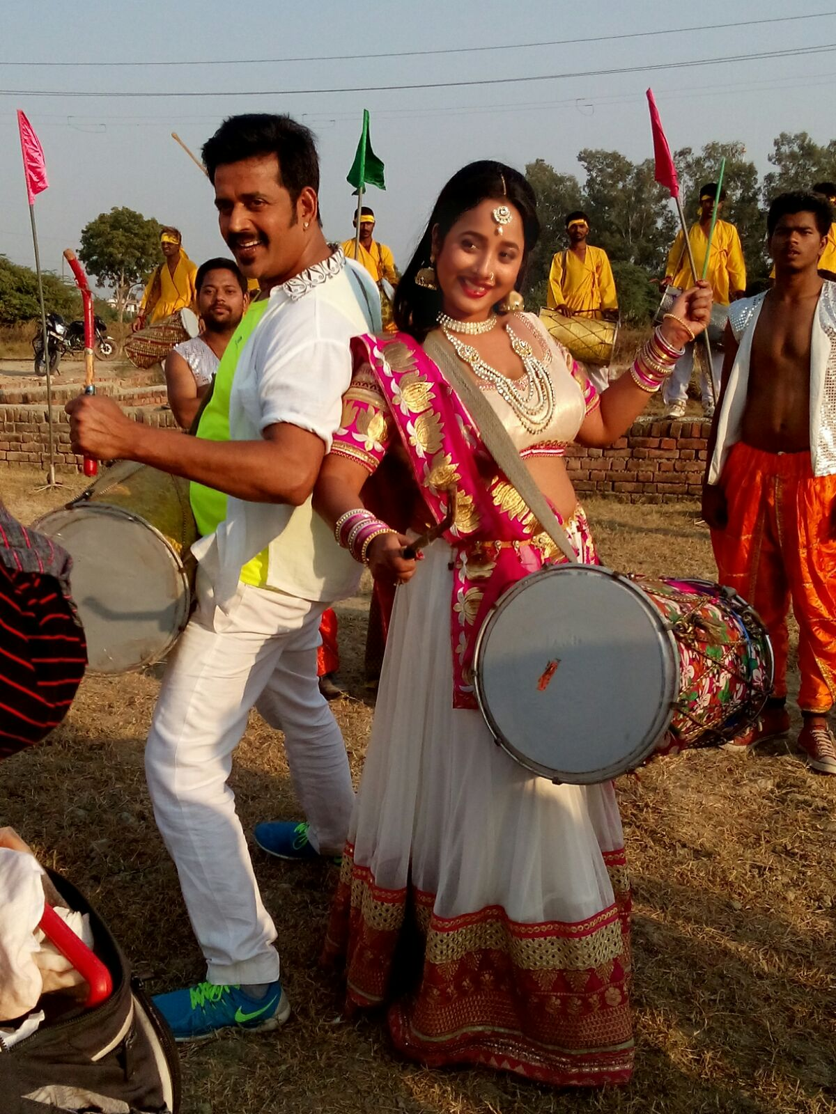 ON Set of Hum Hai Jodi No 1 Bhojpuri Film Shooting photo