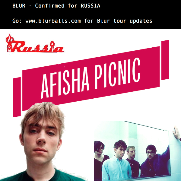 blur afisha picnic, blur moscos 2013, blur 2013, blur russia gig, blur 2013 tour, new blur 2013, blur afisha picnic