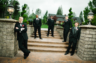 Ryan and his guys - Posted by Patricia Stimac Seattle Wedding Officiant
