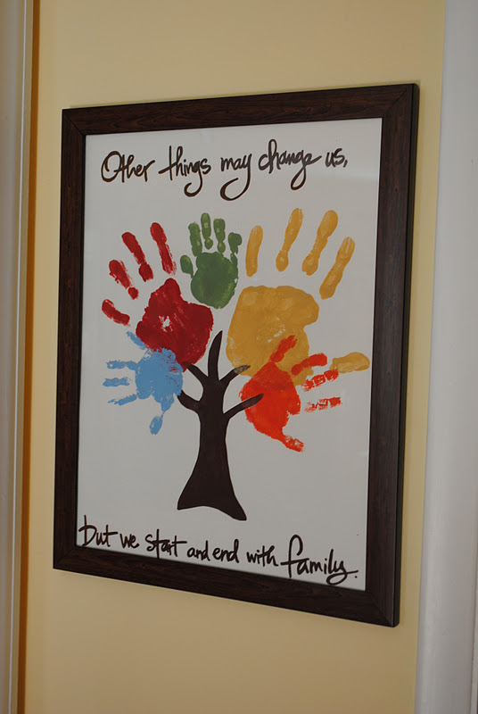 Family tree handprint for Family arts and crafts