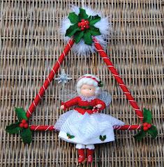 Kerst triangel elfje