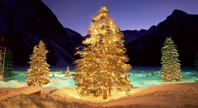 Merry Christmas Tree Desktop Wallpapers