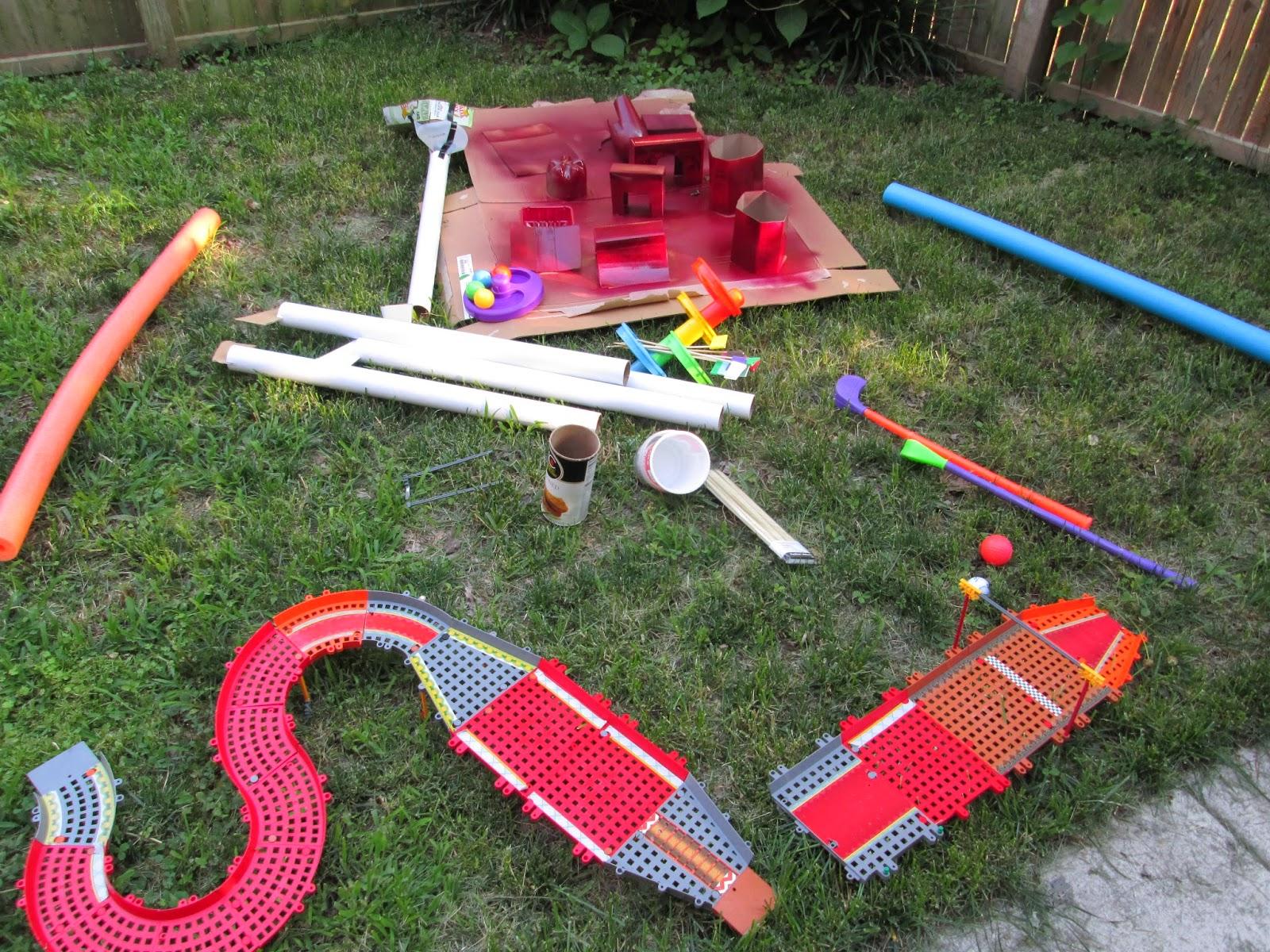 the cheap lazy mom challenge backyard mini golf