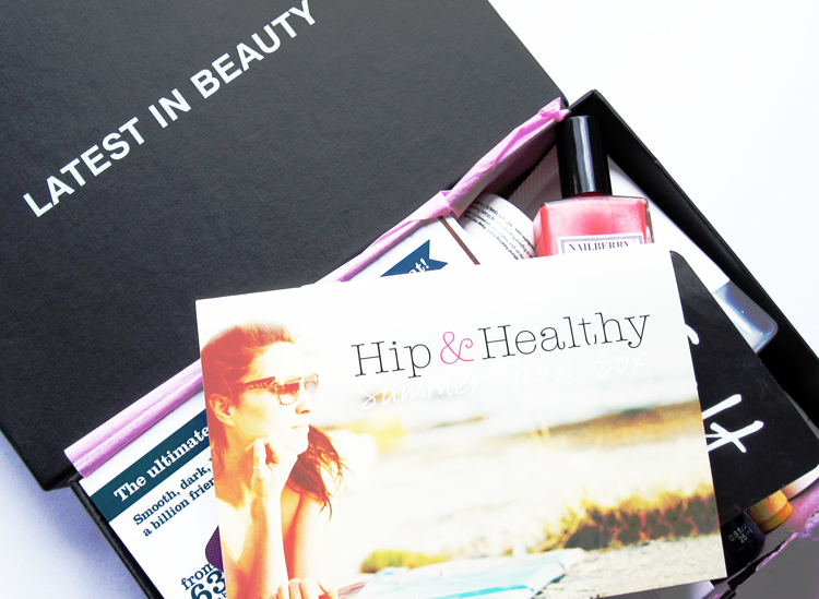A picture of Latest in Beauty Hip and Healthy summer glow box 2014