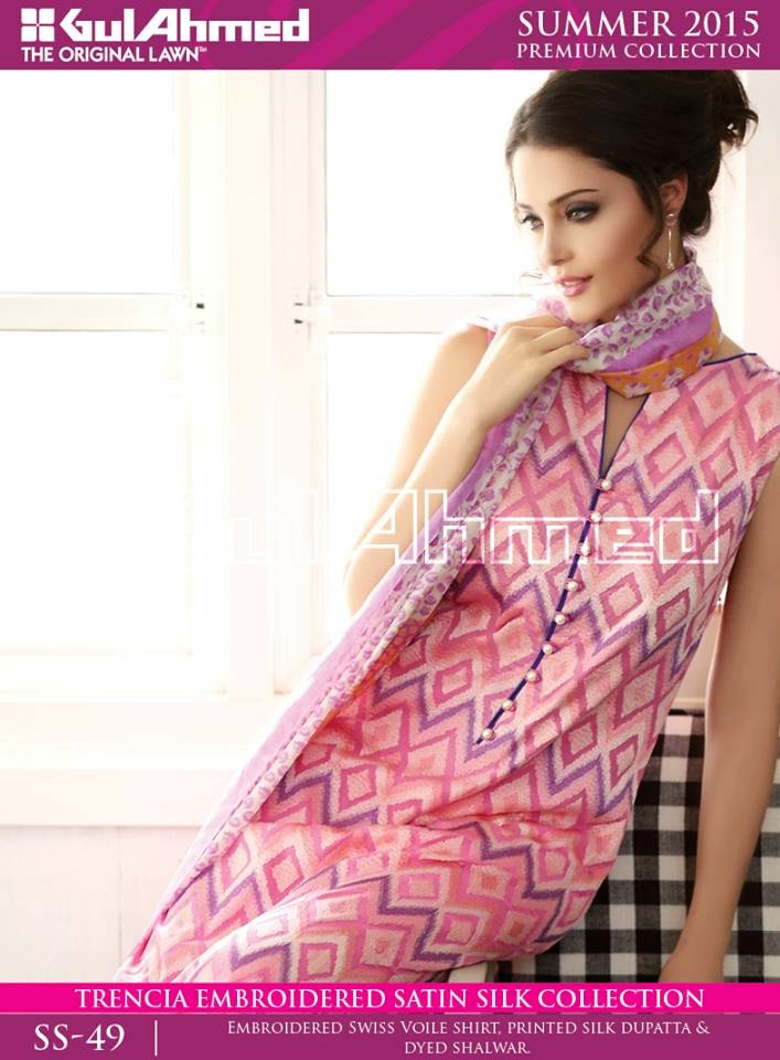 Silk Dresses by Gul Ahmed 2015