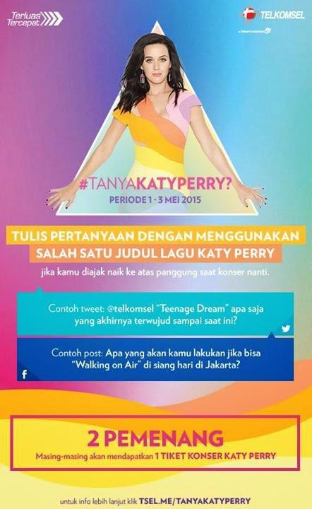 Kuis Telkomsel Berhadiah 2 Tiket Konser Katy Perry