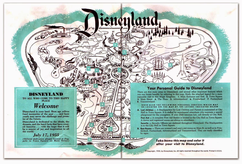 Disney Avenue: Disneyland Map Evolution 1955-2015