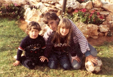 Adi Moses and her family, years before the attack