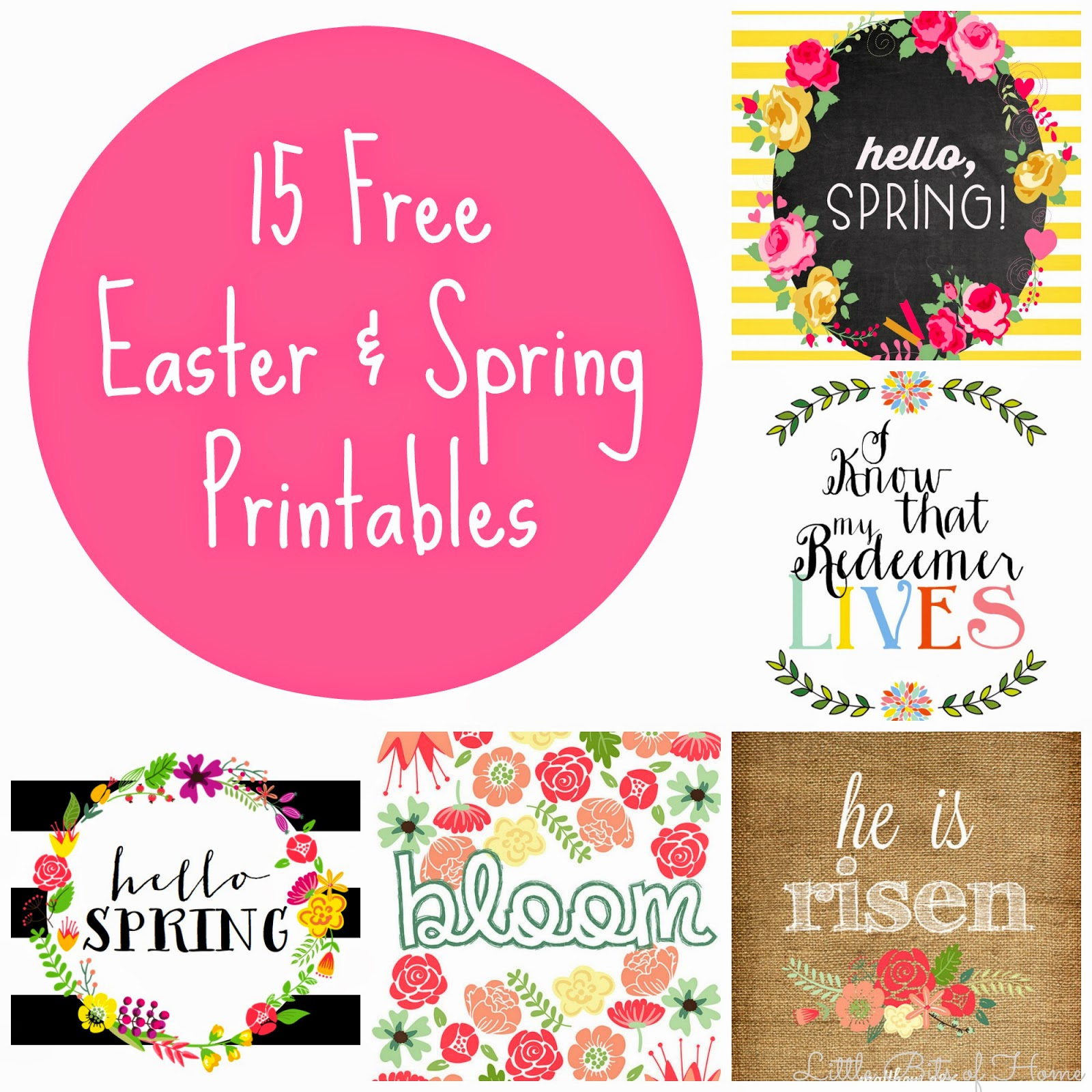 15 free spring and easter printables