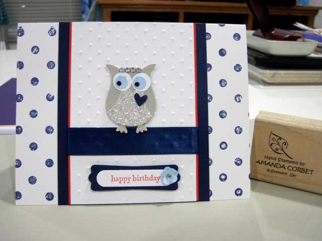 Sparkly Birthday Owl