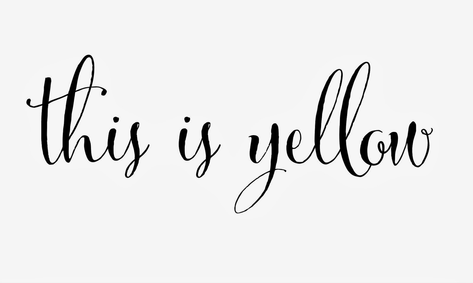 This is Yellow
