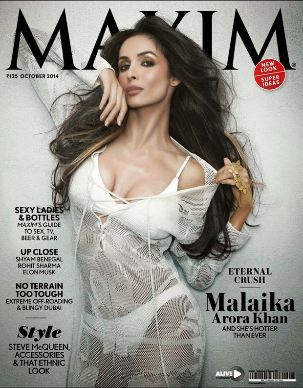 Malaika Arora khan On The Maxim Magazine Cover October 2014