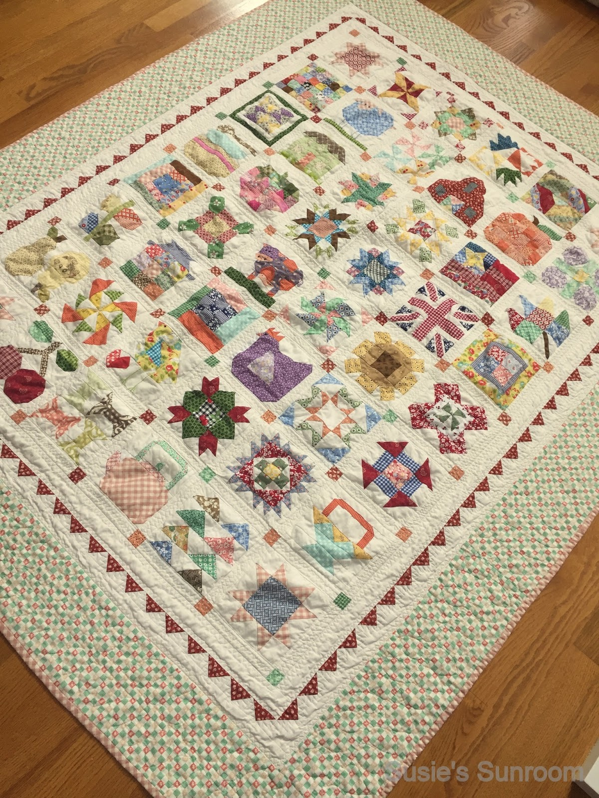 susie 39 s sunroom my finished farm girl vintage quilt. Black Bedroom Furniture Sets. Home Design Ideas