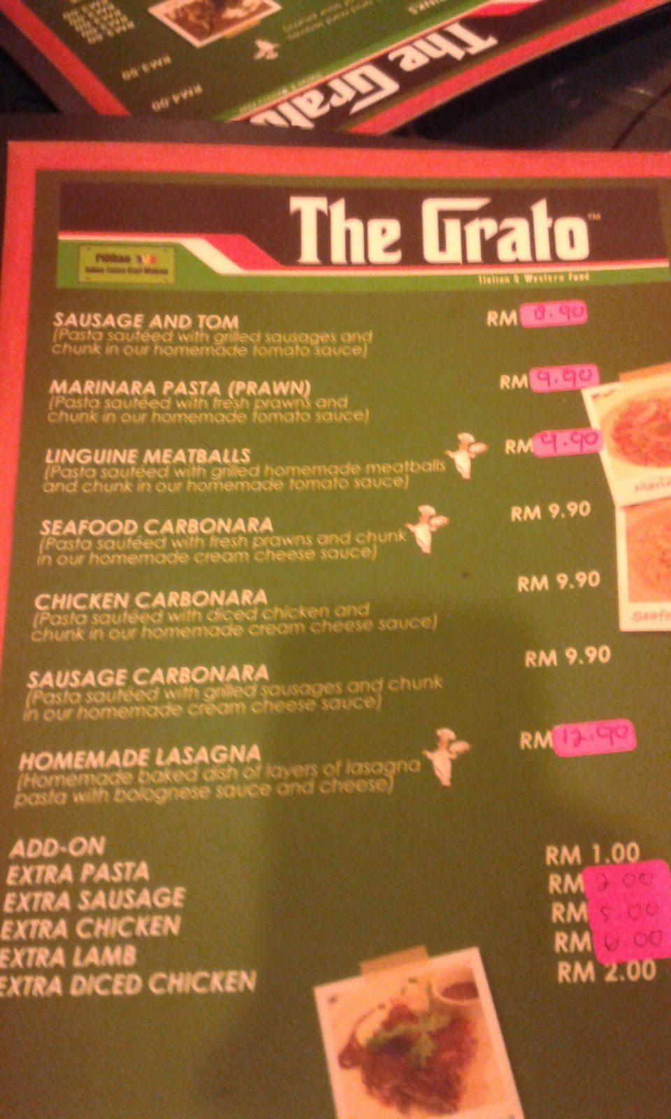 Bunga Bunga Kehidupan The Grato Italian And Western Food