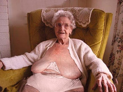 Saggy Tit Granny On Her Couch