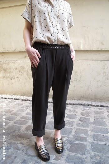 Pantalon noir et fluide Pyrus London