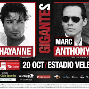 Chayanne y Marc Anthony en Argentina 2012