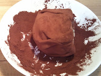 Recipe for Danish kartoffelkage, cocoa powder 1