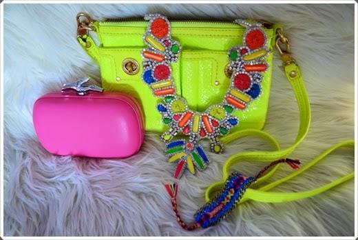 2014 Neonfarbige Handtaschen