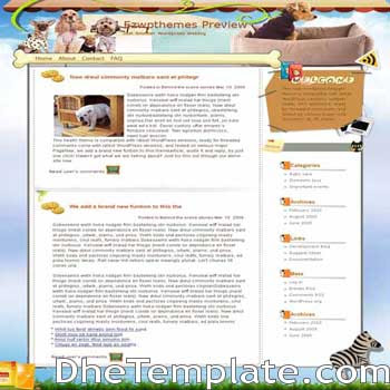 Soul Partners blogger template. pet blogger template