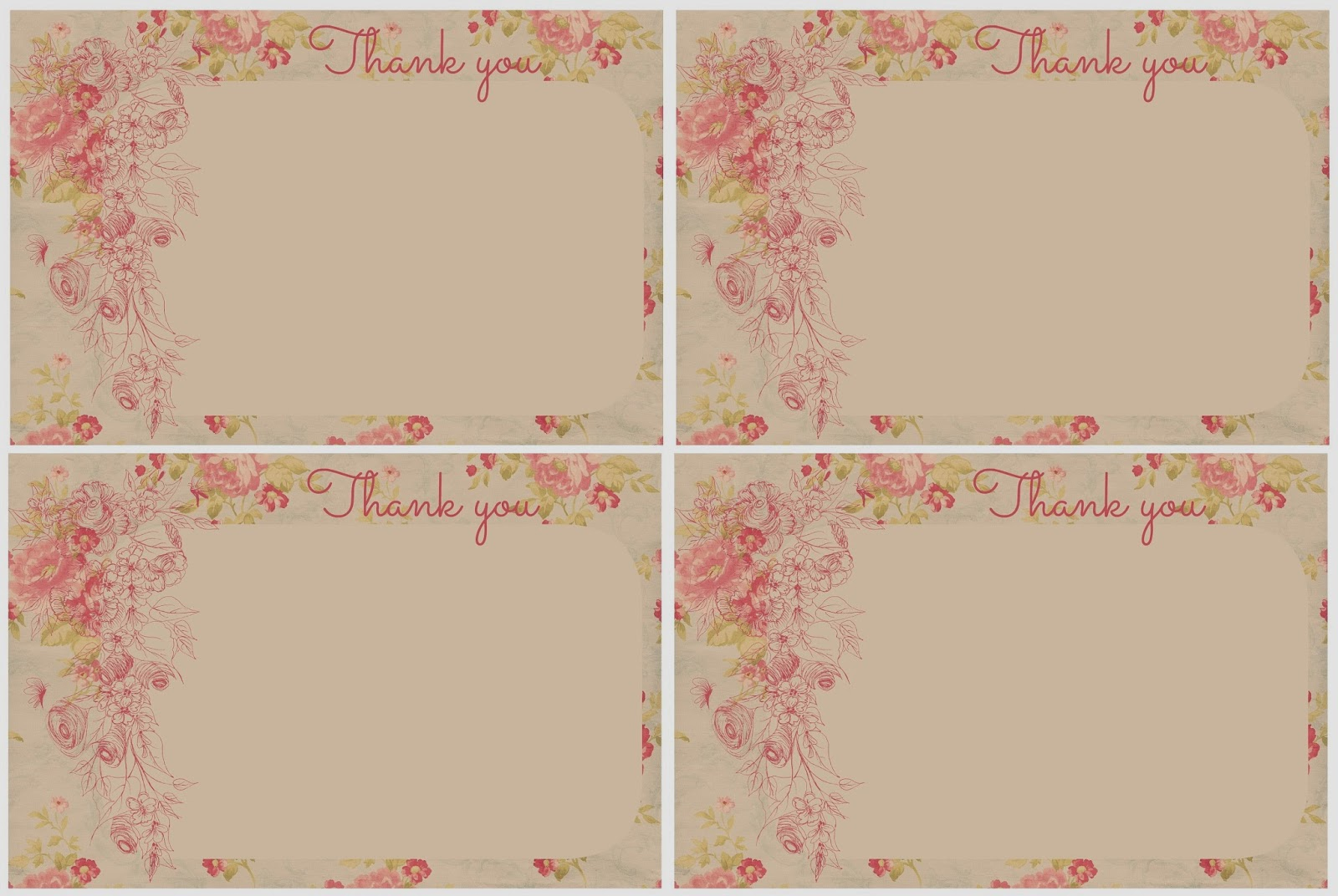 Printable Note Cards Welcome Thank You Note Cards