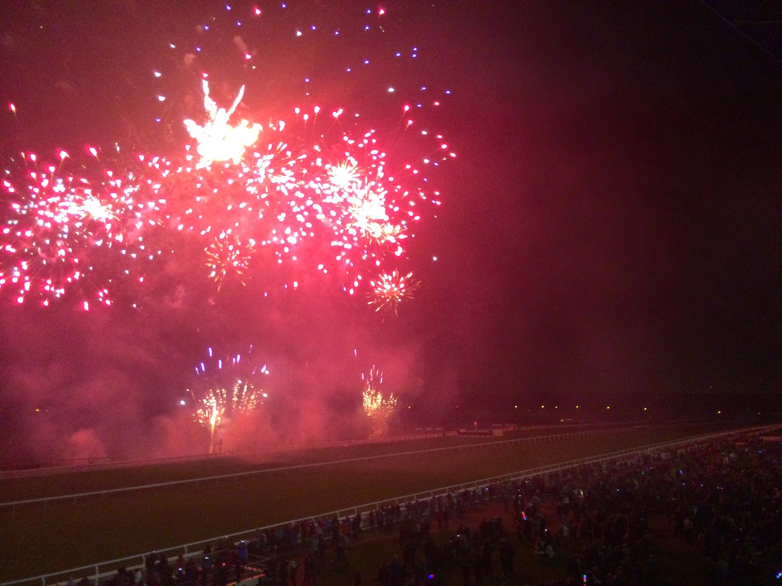 Ascot racecourse fireworks - 1st November 2014