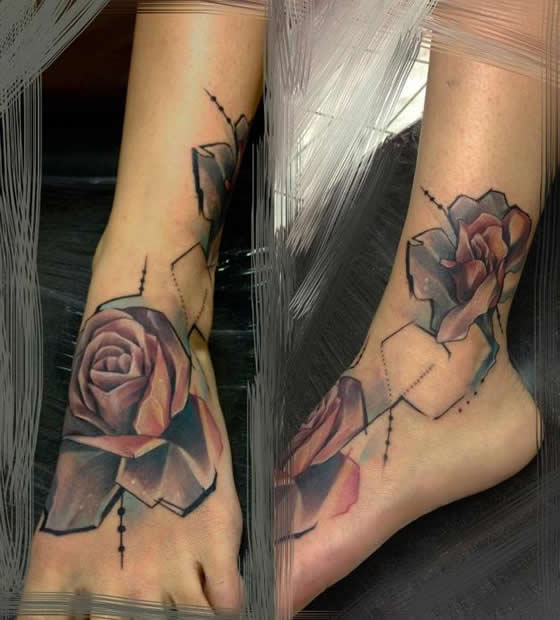 Estilo cubista nas tatuagens de Marie Kraus