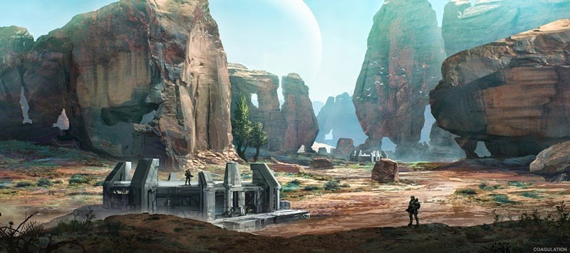 Concept art of Coagulation, a redesigned map for Halo 2