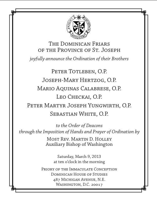 Deacon Ordination Invitation Images - Frompo