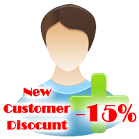 15% Discount for New Customer
