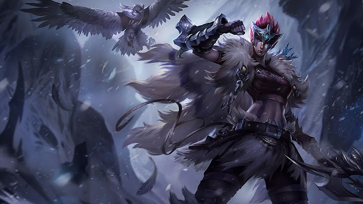 woad scout quinn skin splash art league of legends