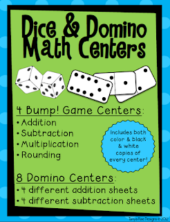 Dice and Dominos Math Centers